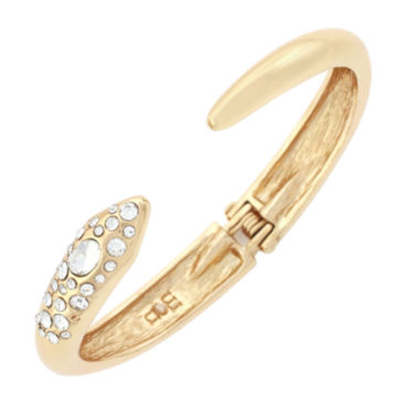jcpenney.com | Nicole by Nicole Miller® Gold-Tone Hinge Bracelet