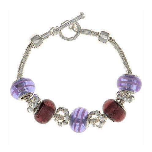 Gloria Vanderbilt® Silver-Tone Multicolor Bracelet