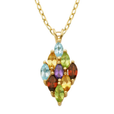 jcpenney.com | Classic Treasures™ Multi-Gemstone Pendant Necklace