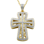 Classic Treasures™ Diamond Accent Cross Pendant Necklace