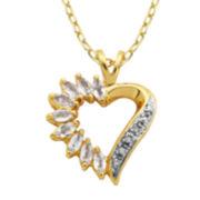 Classic Treasures™ Genuine Topaz Heart Pendant Necklace