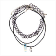 Decree® Cord Moon Stone Necklace