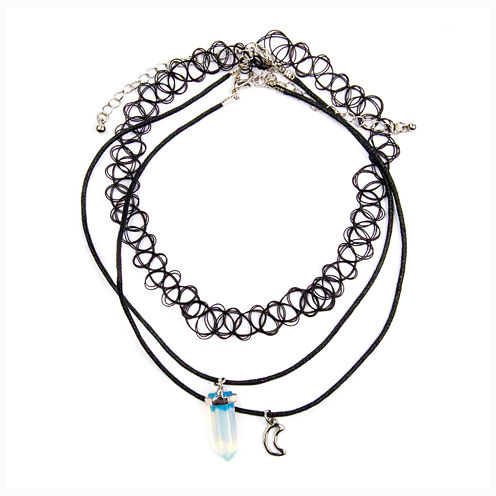 Decree® Cord Moon Stone Necklace