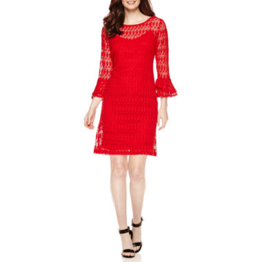 jcpenney.com | Studio 1® 3/4-Sleeve Lace Sheath Dress