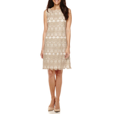 jcpenney.com | RN Studio by Ronni Nicole Sleeveless Lace Shift Dress - Petite