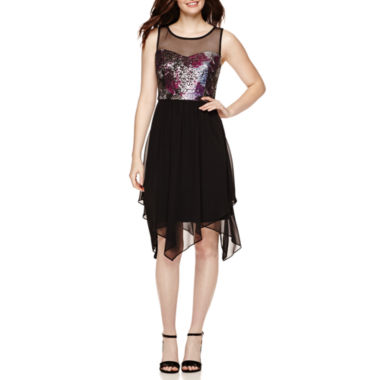 jcpenney.com | Studio 1® Sleeveless Sequined Fit-and-Flare Dress