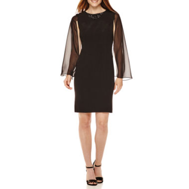 jcpenney.com | Scarlett Beaded Neck Cape Dress