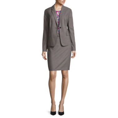 jcpenney.com | Liz Claiborne® One-Button Blazer, Animal Print Knit Top or Belted Pencil Skirt