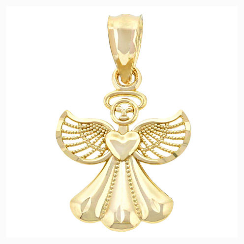 Religious Jewelry 14K Yellow Gold Small Angel Charm Pendant