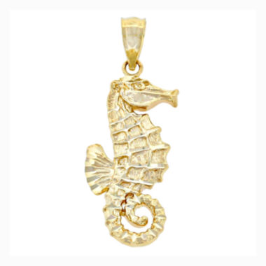 jcpenney.com | 14K Yellow Gold Seahorse Charm Pendant