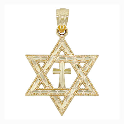 Religious Jewelry 14K Yellow Gold Interfaith Charm Pendant JCPenney