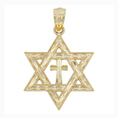 jcpenney.com | Religious Jewelry 14K Yellow Gold Interfaith Charm Pendant