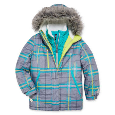jcpenney.com | Zeroxposur® Olivia Systems Plaid Jacket - Girls