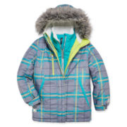 Zeroxposur® Olivia Systems Plaid Jacket - Girls