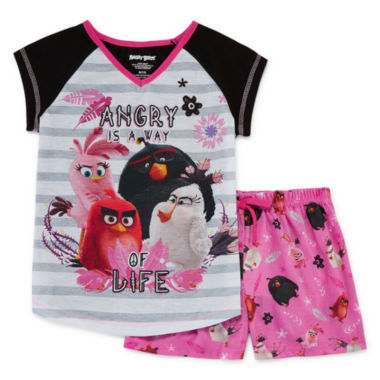 jcpenney.com | Angry Birds 2-pc. Sleep Tank and Shorts Set - Girls