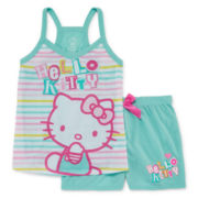 Hello Kitty 2-pc. Sleep Shirt and Shorts Set - Girls