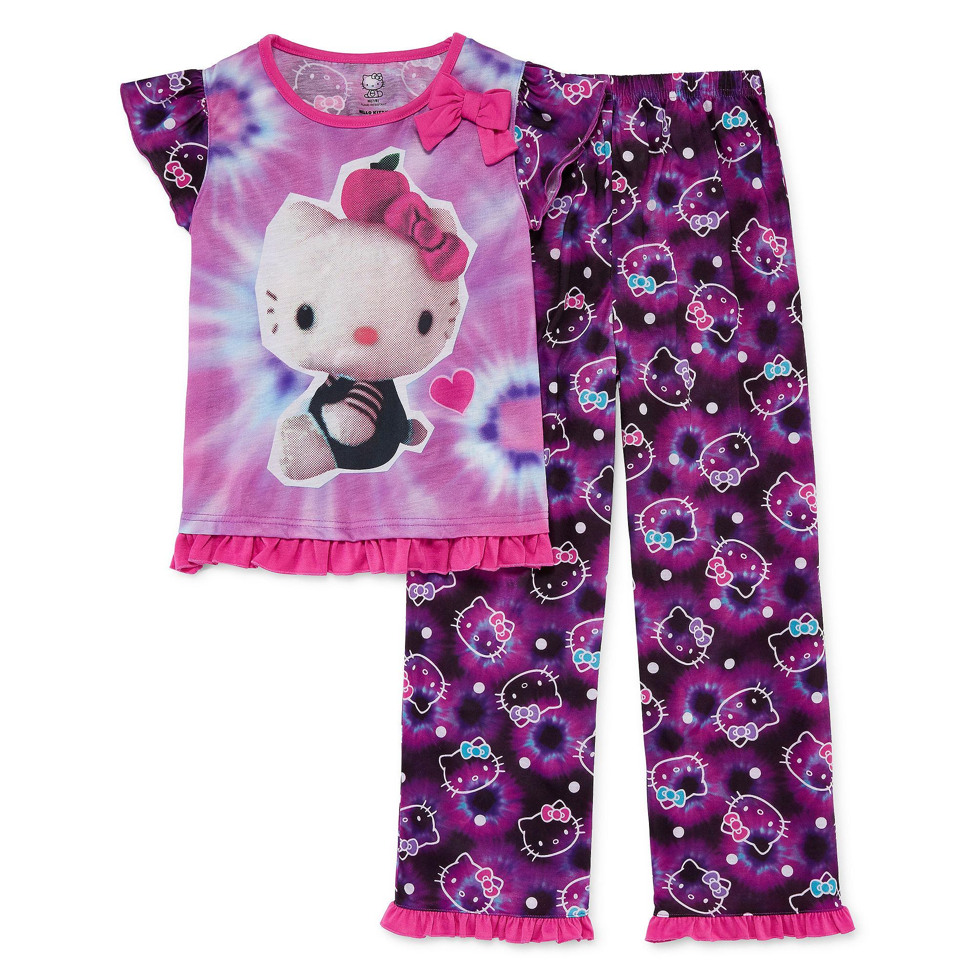 Hello Kitty 2-pc. Sleep Shirt and Pants Set - Girls