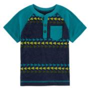 Arizona Short-Sleeve Henley Tee - Toddler Boys 2t-5t