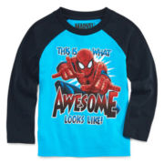 Marvel® Spiderman™ Long-Sleeve Raglan Tee - Toddler Boys 2t-5t