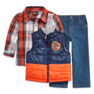 jcpenney.com | 3-pc. Vest, Shirt and Jeans Set - Toddler Boys 2t-4t