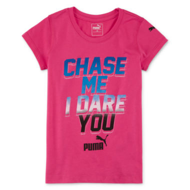 jcpenney.com | Puma® Short-Sleeve Chase Me Tee - Preschool Girls 4-6x