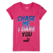 Puma® Short-Sleeve Chase Me Slogan Tee - Girls 7-16