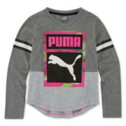 Puma® Long-Sleeve V-Neck Tee - Preschool Girls 4-6x