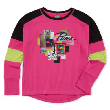 jcpenney.com | Puma® Long-Sleeve Top - Preschool Girls 4-6x