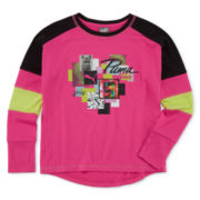 Puma® Long-Sleeve Top - Preschool Girls 4-6x