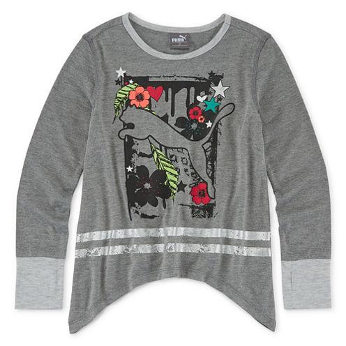 Puma® Long-Sleeve Cat Top - Preschool Girls 4-6x