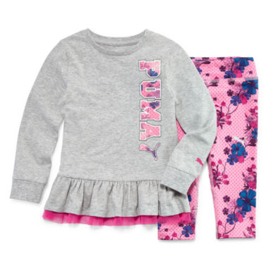 jcpenney.com | Puma® 2-pc. Floral Legging Set - Toddler Girls 2t-4t