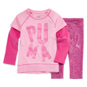Puma® 2-pc. Zebra Legging Set - Toddler Girls 2t-4t