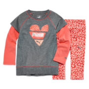 Puma® Animal Print Layered Top and Leggings Set - Toddler Girls 2t-4t