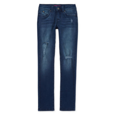 jcpenney.com | YMI® WannaBettaFit Rip and Repair Skinny Jeans - Girls 7-14