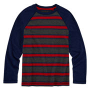 Arizona Long-Sleeve Striped Raglan Tee - Boys 8-20 and Husky
