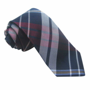 jcpenney.com | Stafford® 3-Bar Plaid Silk Tie