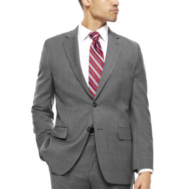 jcpenney.com | Stafford® Travel Classic-Fit Stretch Charcoal Windowpane Suit Jacket