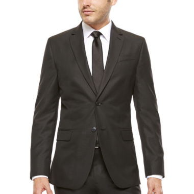 jcpenney.com | JF J. Ferrar® Slim-Fit Black Box Check Suit Jacket