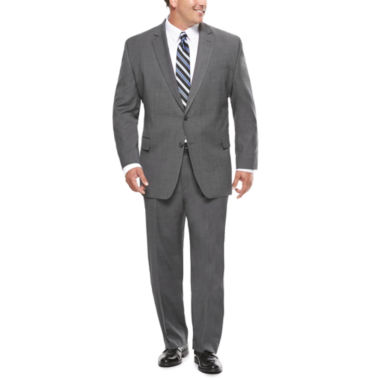 jcpenney.com | Stafford® Travel Stretch Charcoal Windowpane Suit Separates - Big & Tall