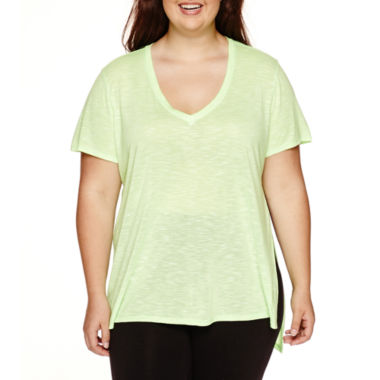 jcpenney.com | City Streets® Short-Sleeve High-Side-Slit Tee - Juniors Plus