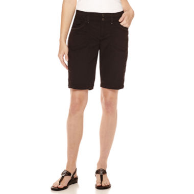 jcpenney.com | Gloria Vanderbilt® Beverly Relaxed-Fit Bermuda Cargo Shorts - Petite