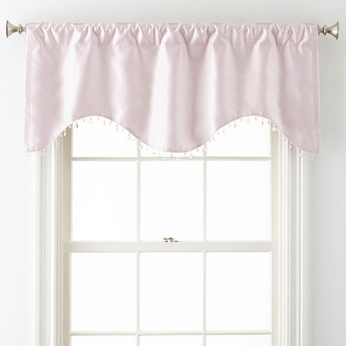 Home Expressions™ Jordyn Room-Darkening Rod-Pocket/Back Tab Scalloped Valance