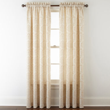 jcpenney.com | Home Expressions™ Somerville Rod-Pocket Curtain Panel