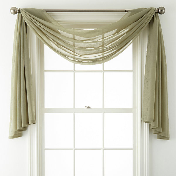 Royal velvet crushed voile scarf valance - Jcpenney bathroom window curtains ...