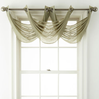 jcpenney.com | Royal Velvet® Crushed Voile Grommet-Top Waterfall Valance