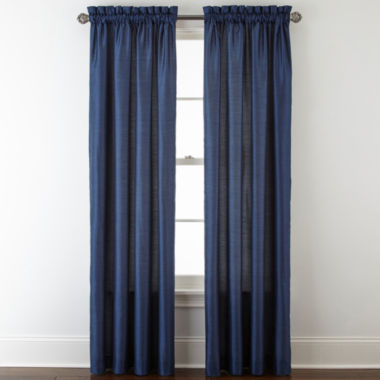 jcpenney.com | Royal Velvet® Plaza Thermal Interlined Rod-Pocket Window Treatments
