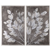 Set of 2 Money Tree Framed Wall Art