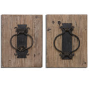 Set of 2 Rustic Door Knockers