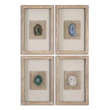 jcpenney.com | Set of 4 Agate Wall Hangings