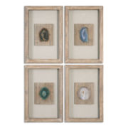 Set of 4 Agate Wall Hangings